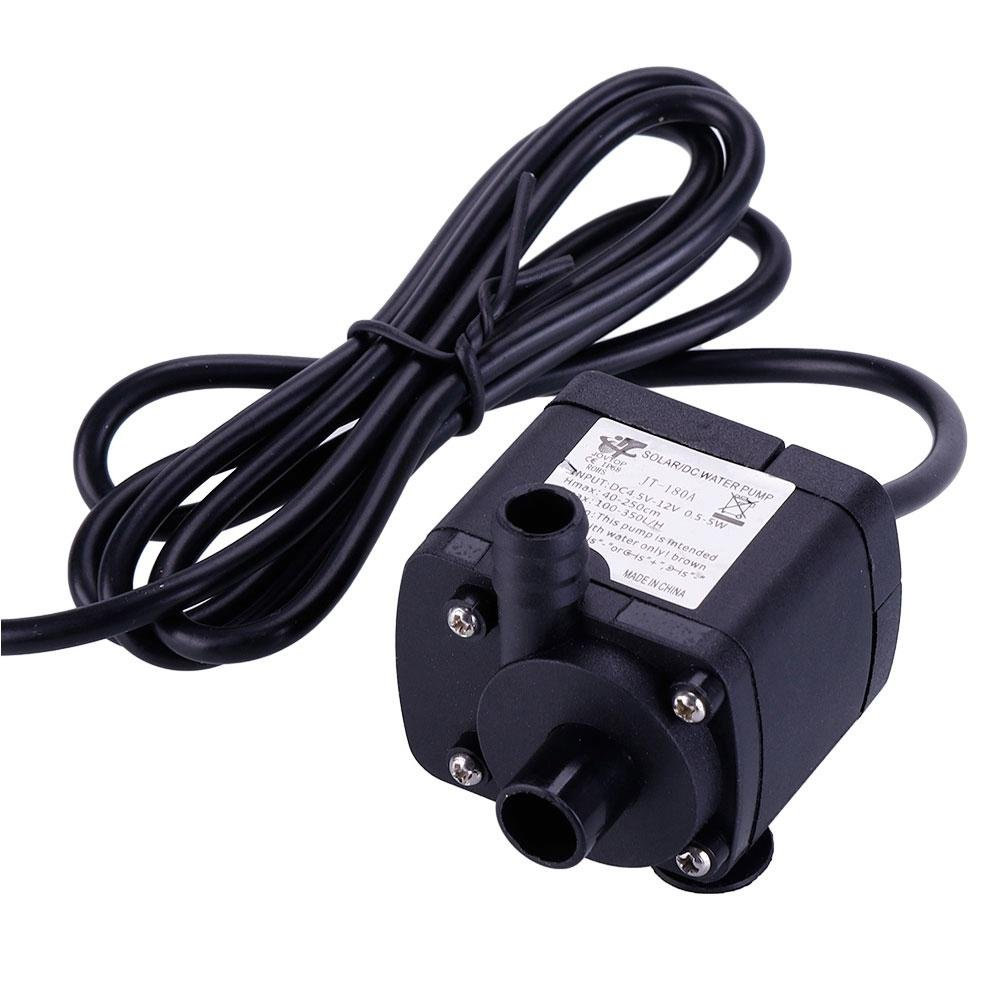 ZHUOTOP DC 12V Water Circulation Pump Electric Mini Submersible motor pump for Hydroponics Medical Cooling 733403171328