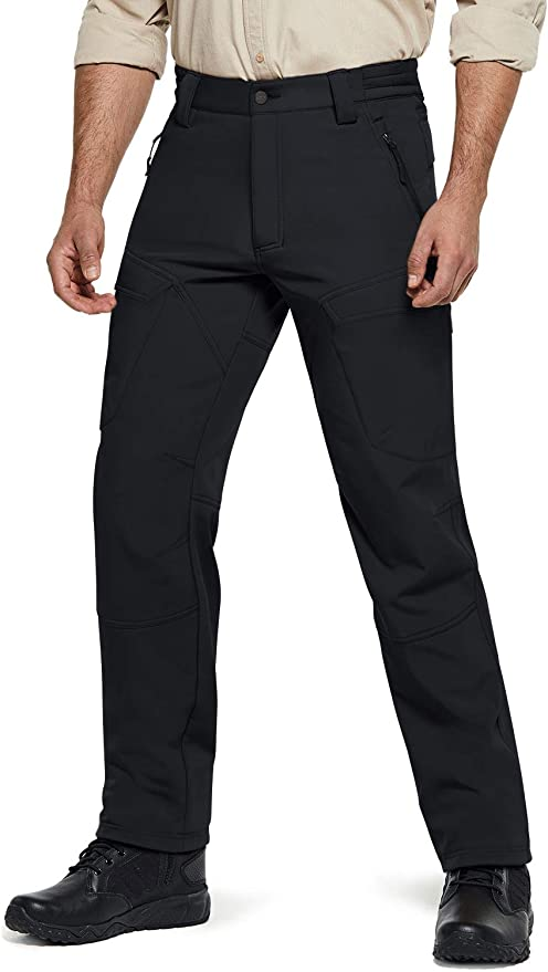 Mens Fleece Thermal Lined Trousers Working Walking Hiking Cargo Combat Pants New
