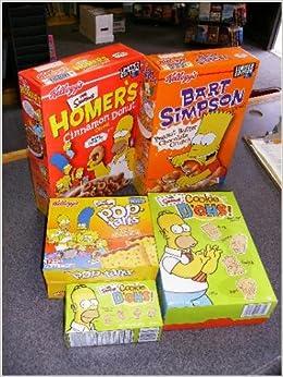 Simpsons Cereal Food Kellogg S Bart Cereal Homer S Cinnamon