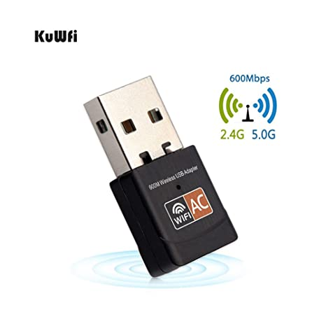KuWFi Adaptador Wifi Adaptador USB Tarjeta De Red 2.4GHz ...