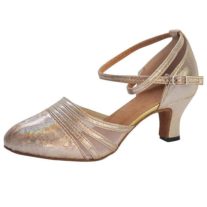 407c04b4 RYTEJFES Tacón escarpín Sandalias Zapatos Danza Zapatos Flamenca Zapatos de Baile  Latino Salón de Baile de
