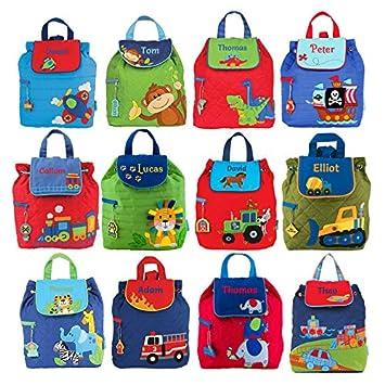 Mochilas personalizadas para niños y niñas, diseño de Stephen Joseph, Blue Elephant, Small: Amazon.es: Hogar