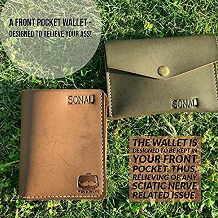 6b77c569 Moustache Vegan Leather Chikoo Men's Bi-Fold Wallet