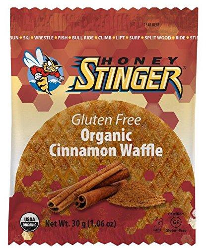 Honey Stinger Organic Gluten Free Waffle, Cinnamon, 1.06 Ounce (Pack of 16)