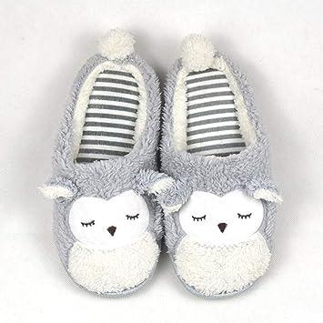 YSFU Zapatillas de estar por casa Primavera Otoño Invierno Casa Dibujos Animales Algodón Zapatillas Mujeres Interiores \ Piso Cálido Zapatillas Zapatos ...