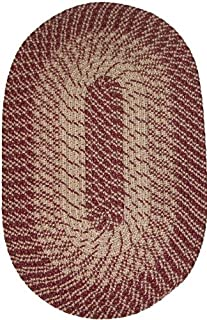 "product image for Plymouth 40"" x 60"" Braided Rug in Wine Made in USA"