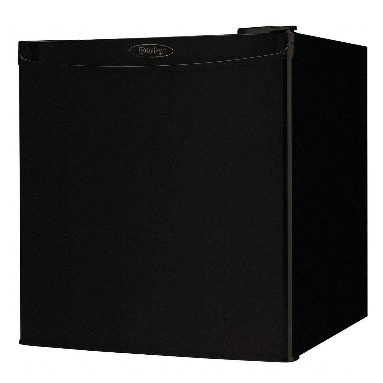 Danby Designer 1.6 Cubic Foot Steel Home Mini Fridge Compact Refrigerator, Black