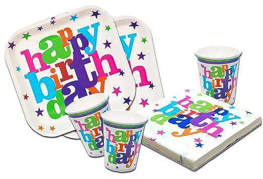 Platos,Vasos y Servilletas Desechables Cumpleaños Niño o ...