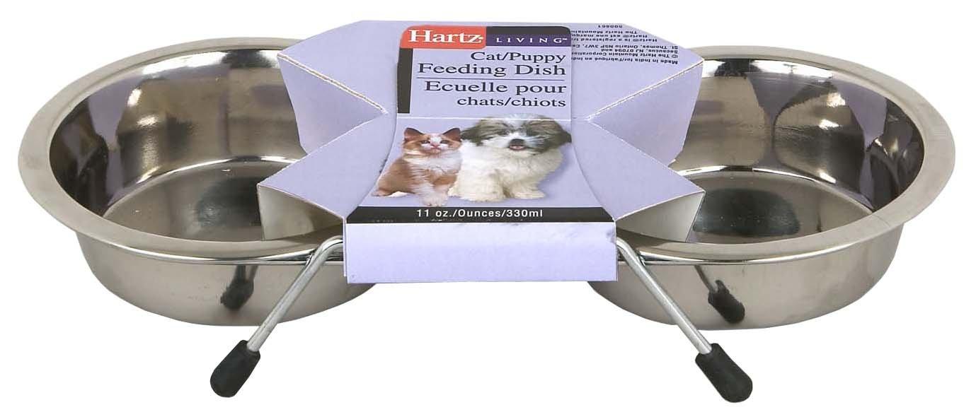 Hartz 98776 Living Stainless Steel Pet Feeding Dishes