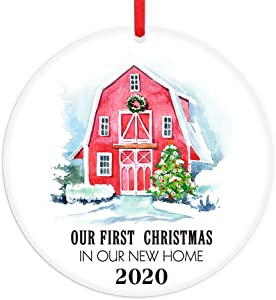 FaCraft First Christmas in New Home Ornaments 2020,New Home Christmas Ornament 2020,Warming Presents for New Home Homeowners Women