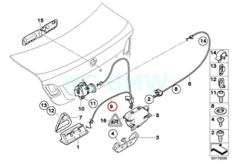 Amazon Com Bmw Genuine Emergency Unlocking Bowden Cable Automotive
