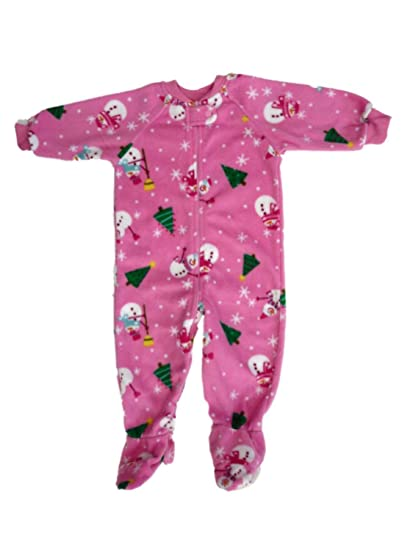 Image Unavailable. Image not available for. Color  Planet Girls Infant  Snowman Pink Holiday Blanket Sleeper Footed Pajamas ... 055cd370c
