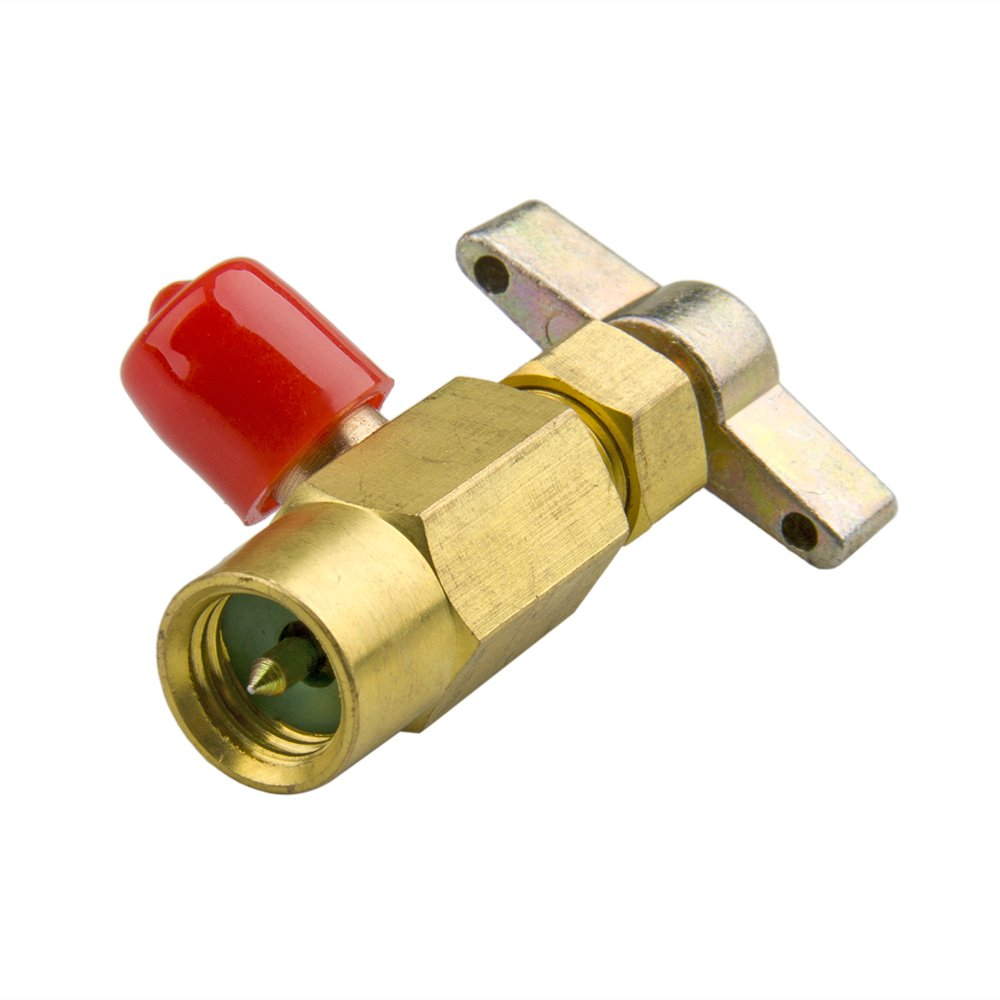 Big-Autoparts R-134a R-134 AC DV-134 Brass CAN TAP Dispensing Valve 1/2' ACME