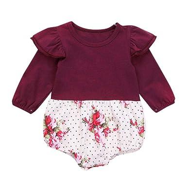 f8258ff768 Amazon.com  Pollyhb Baby Girl Romper