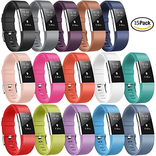 for Fitbit Charge 2 Bands, DigiHero Replacement Band with Metal Clasp for Fitbit Charge 2 Band/Fitbit Charge 2, No Tracker