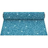 Firefly Craft Glitter Heat Transfer Vinyl for Silhouette and Cricut, 12.5 inch by 5 Feet Roll, Turquoise