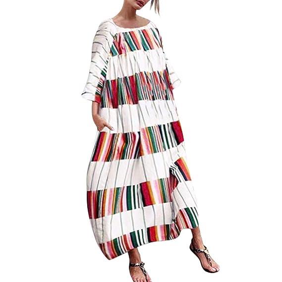 Vectry Vestido Rayas Mujer Vestidos De Fiesta para Bodas Talla Grandes Vestidos Playa Mujer Vestidos Casuales Vestidos De Fiesta Cortos Elegantes Vestido ...