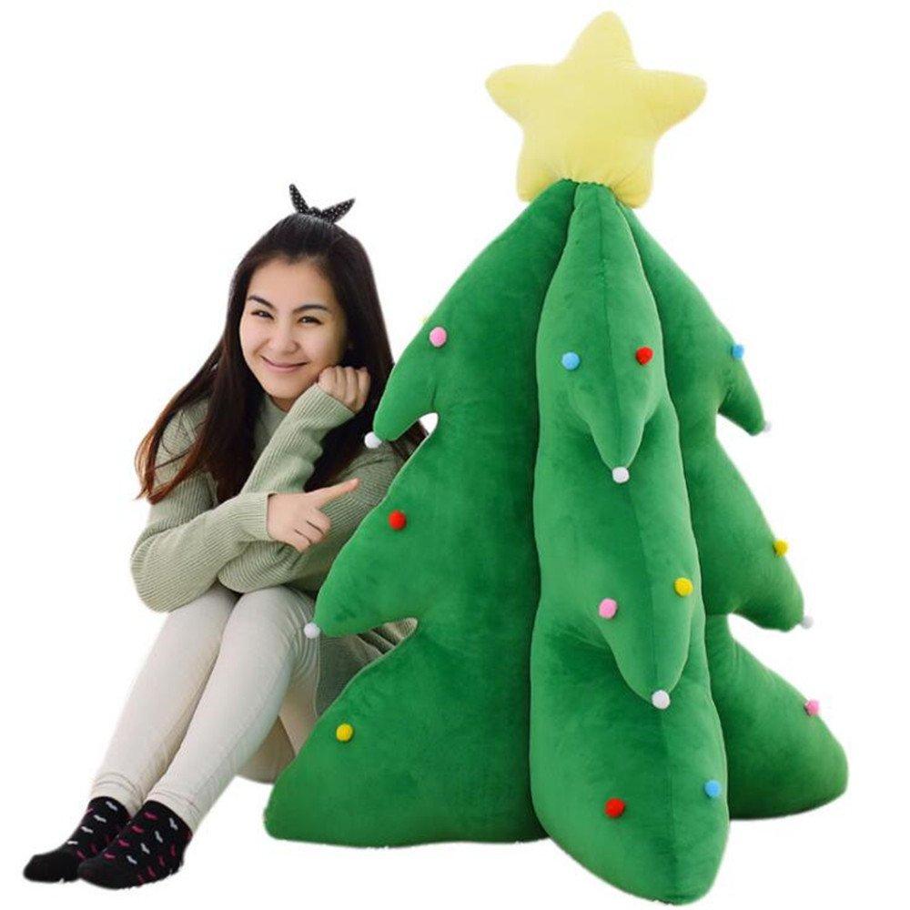 Creative Gifts Christmas Tree Kids Stuffed Doll Plush Toys Festive Home Bedroom Living Room Decoration Christmas Birthday Gift for Children (33cm)