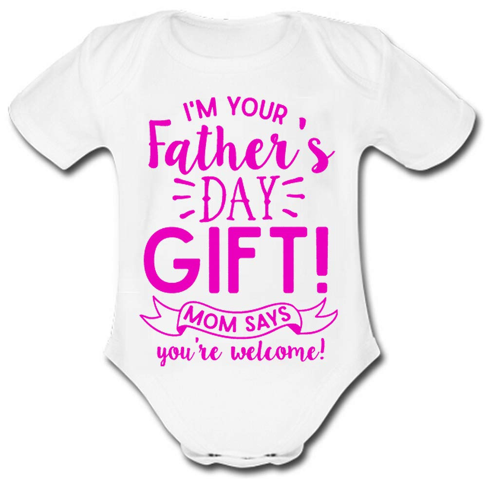 Amazon JURU Baby Suit Im Your Mom Says Welcome Cotton Newborn Outfit Onesie Short Sleeve White Clothing