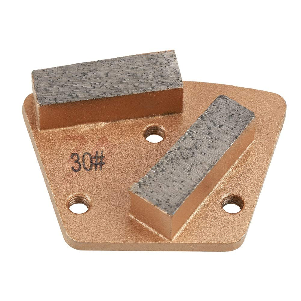 OKBY Diamond Grinding Disc - Trapezoid Diamond Concrete Grinding Disc Pad for Grinder Grit 30(3 Holes 2 Straight Teeth)