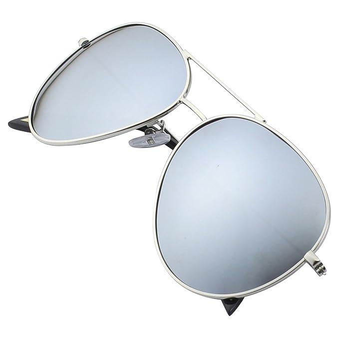 6 opinioni per GQUEEN Occhiali da Sole Premium a Specchio Completo Aviator Polarizzati MZZ9