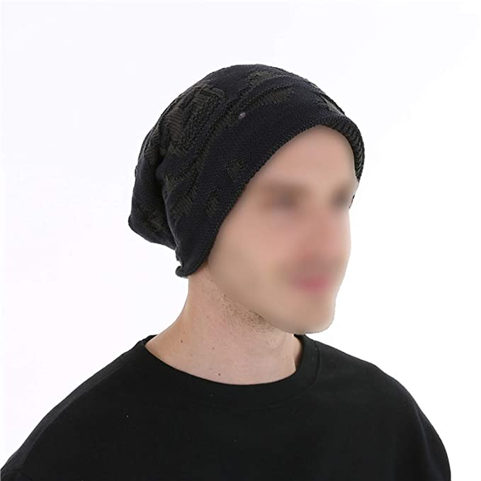 e71a188079 Mens Winter Hat Beanies Knitted Wool Hip Hop Stocking Hat Plus ...