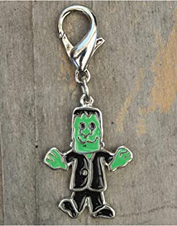 product image for Diva-Dog 'Frankie' Frankenstein Hand-enameled Dog Collar Charm