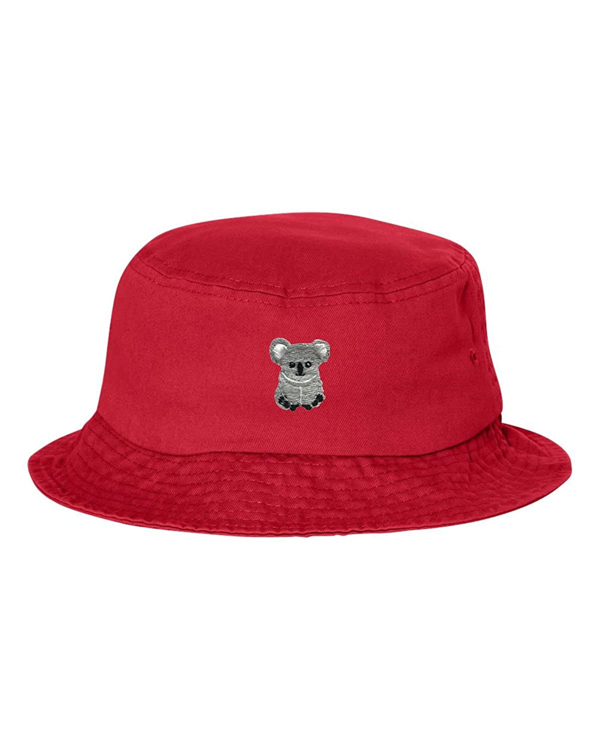 Adult Koala Bear Embroidered Bucket Cap Dad Hat