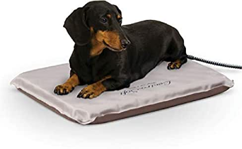 K&H PET PRODUCTS Lectro-Soft Outdoor Heated Pet Bed Tan