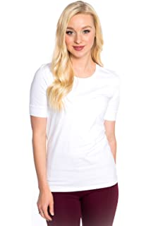 80f0d5fd4 Heirloom Cap Sleeve Tee USA Made Extra Length Layering Comfy Slim ...