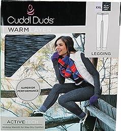 Cuddl Duds Womens\' XXL Warm Layer Legging Blue Space Dye