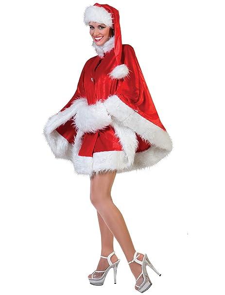 Mantello Babba Natale rosso con cappello babbo e manicotto di peluche mamma 0c30082f083