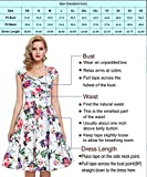GRACE KARIN Crew Neck Tea Dresses Fit and Flare Style Size M F-1 Variant Image
