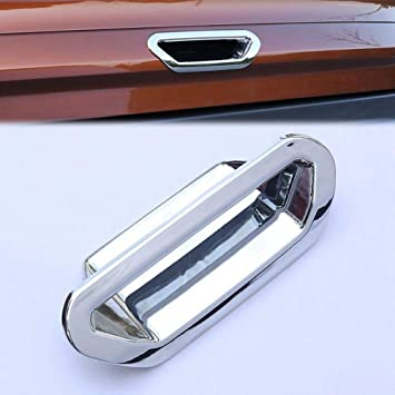 Chrome Rear Boot Door Tailgate Control Switch Button Decoration Handle Bowl Cover Trim