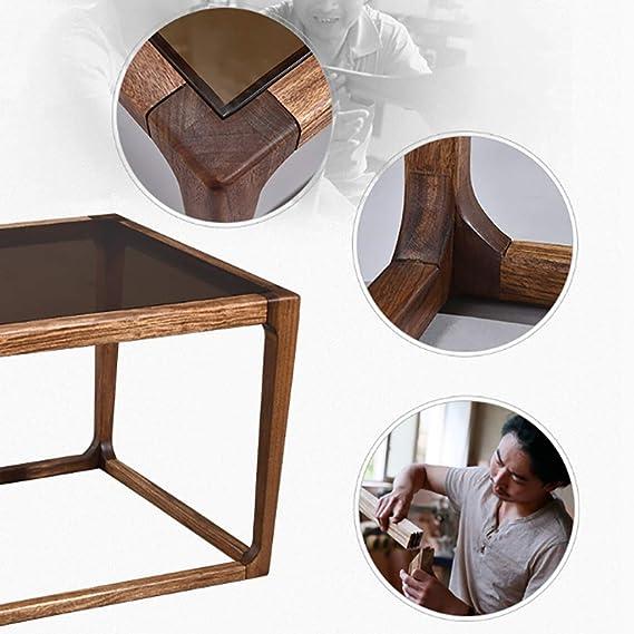chinois style table le verre basse Wujinmu tremper nordique SpUMVqz