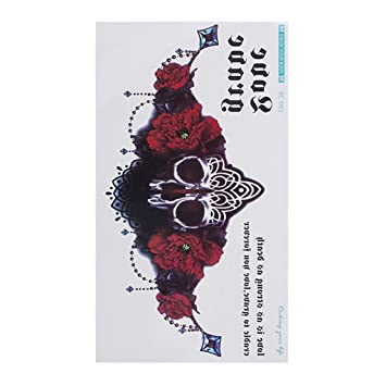 Amazon Com Removable Waterproof Tattoo Stickers 3d Sexy Temporary Tattoo Stickers Body Art Decal Flash Body Sternum Back Paint Flowers Stickers Unisex
