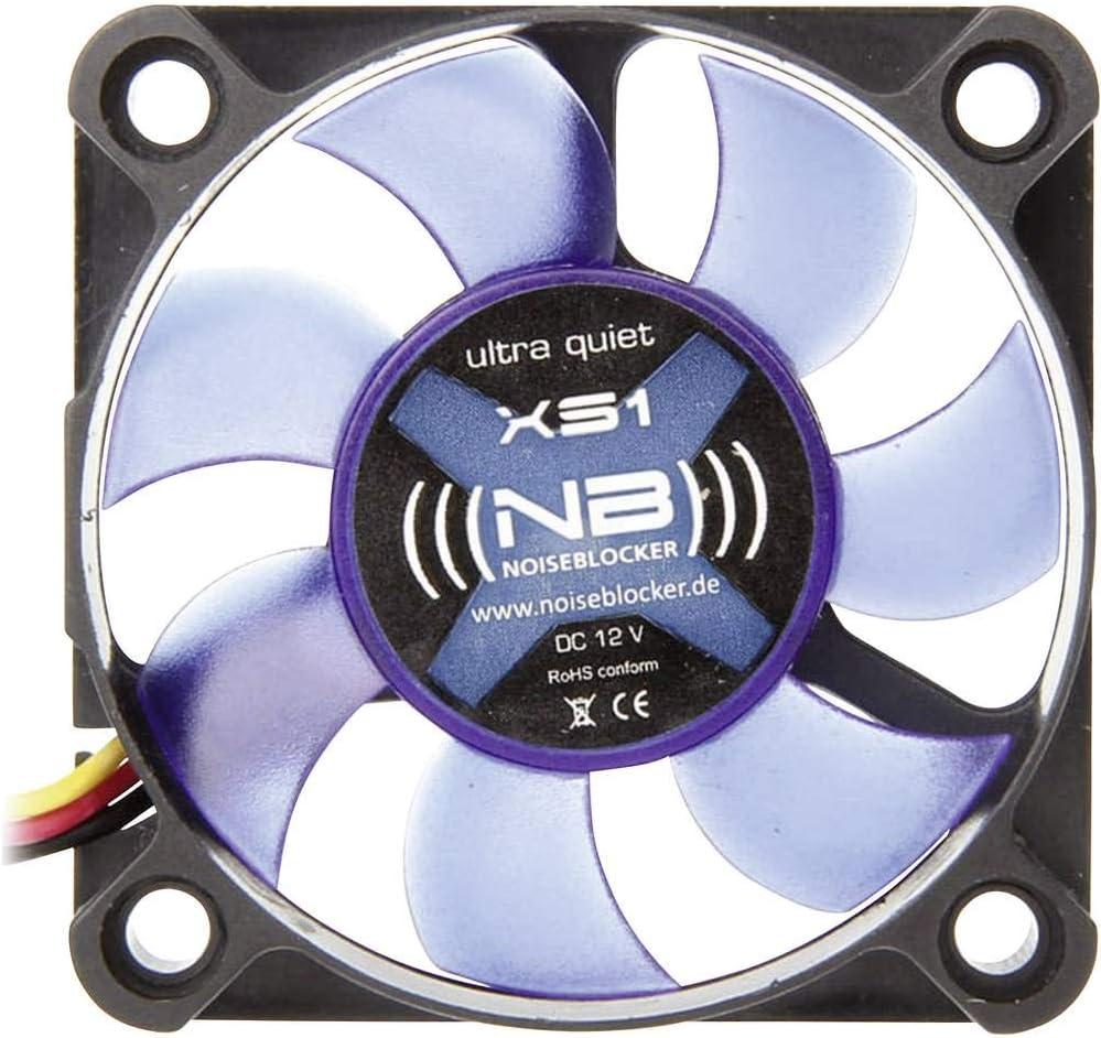 Noiseblocker BlackSilentFan XS-1 - Ventilador de PC (Ventilador, Carcasa del Ordenador, 5 cm, Negro, Azul, 12V, 5 cm)