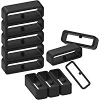 ECSEM Fastener Rings Compatible with Garmin Forerunner 935 Bands(Pack of 10) Silicone Connector Security Loop Keepers Ring