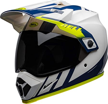 Bell Helmet Mx 9 Adventure Mips Dash White Blue Hi Viz M Auto