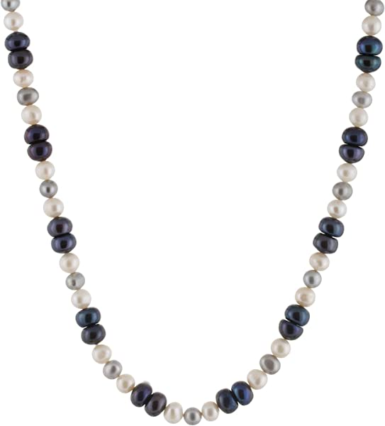 3fc9e7aaf433f Handpicked A Quality Mixed Size 4-8mm White Grey Black Freshwater Cultured  Pearl Strand Endless 36