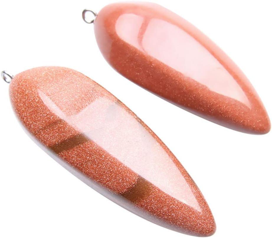 HEALLILY 2 Piezas Colgantes de Cristal Natural Encanto Collar de Agagte Pulsera Cuentas de Piedras Preciosas Encantos para Diy Artesanía Joyería Pendientes Patrones Mixtos (Chocolate)