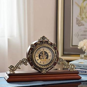 QQB @Reloj de Escritorio Relojes de Mesa para la Sala de Estar Decoración Relojes de