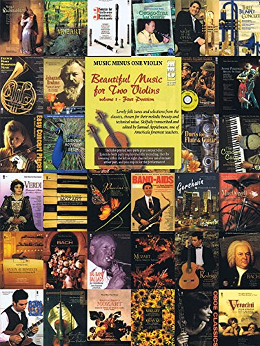 1: Beautiful Music for Two Violins: Volume I: First (Music Minus One Violin)