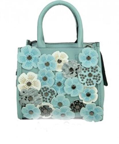 e7ffae30bebe LeahWard Women s 3D Flower Handbags Shoulder Bag For Women Small Cute  Little Bags (AQUA SEA19X17X11