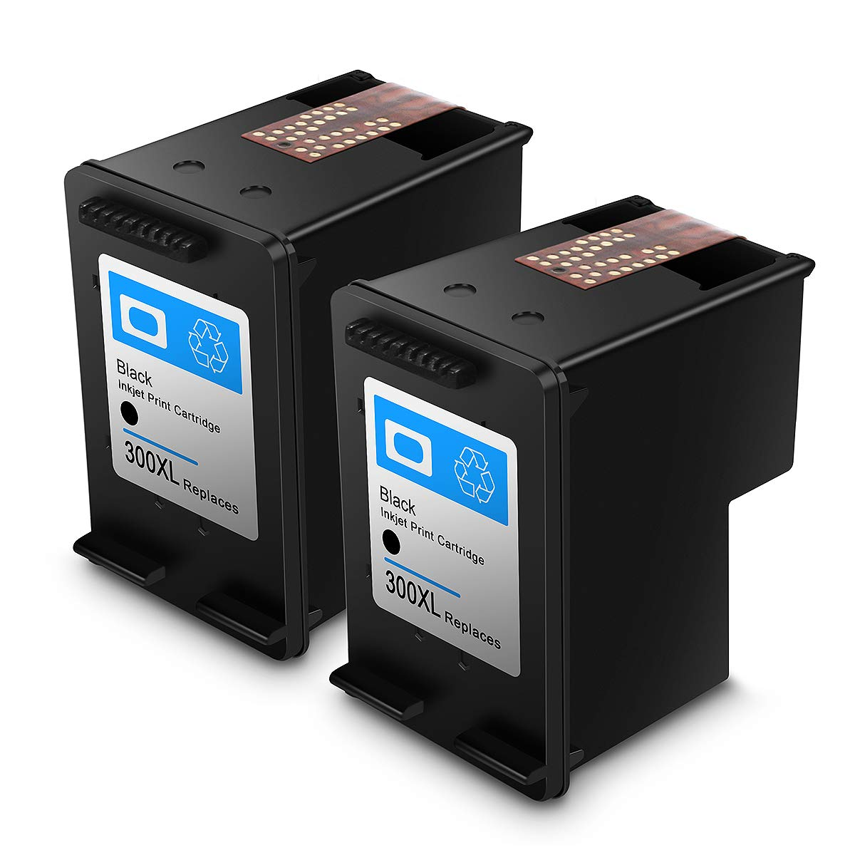 Reconstruido HP 300 XL HP 300 Cartuchos de Tinta de Alto Rendimiento Compatible con HP DeskJet D1660/D2660/D5560/F2480/F4280/F4580 (2 Negro)