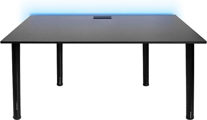 SyberDesk Computer Gaming Schreibtisch mit LED für Gamer, Home Office