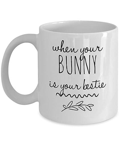 Amazon.com: BUNNY LOVE COFFEE MUG TEA CUP, Funny Quote Mugs ...