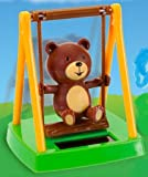 1 X Solar Powered Swinging Bear - Swings on Playground in Sunlight by Greenbriar International