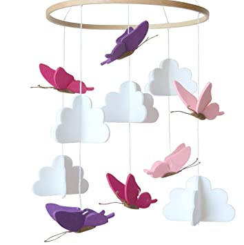 Amazon.com: Móvil para cuna de bebé de Sorrel + mariposas en ...