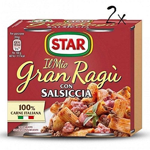 2x Il Mio Gran Ragu Star Salsa de Tomate Con Salchica Para Pasta (2 x